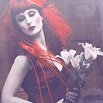 Random image: девушка-с-лилиями